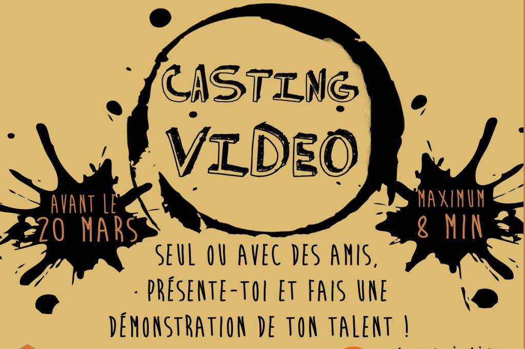 Affiche casting video