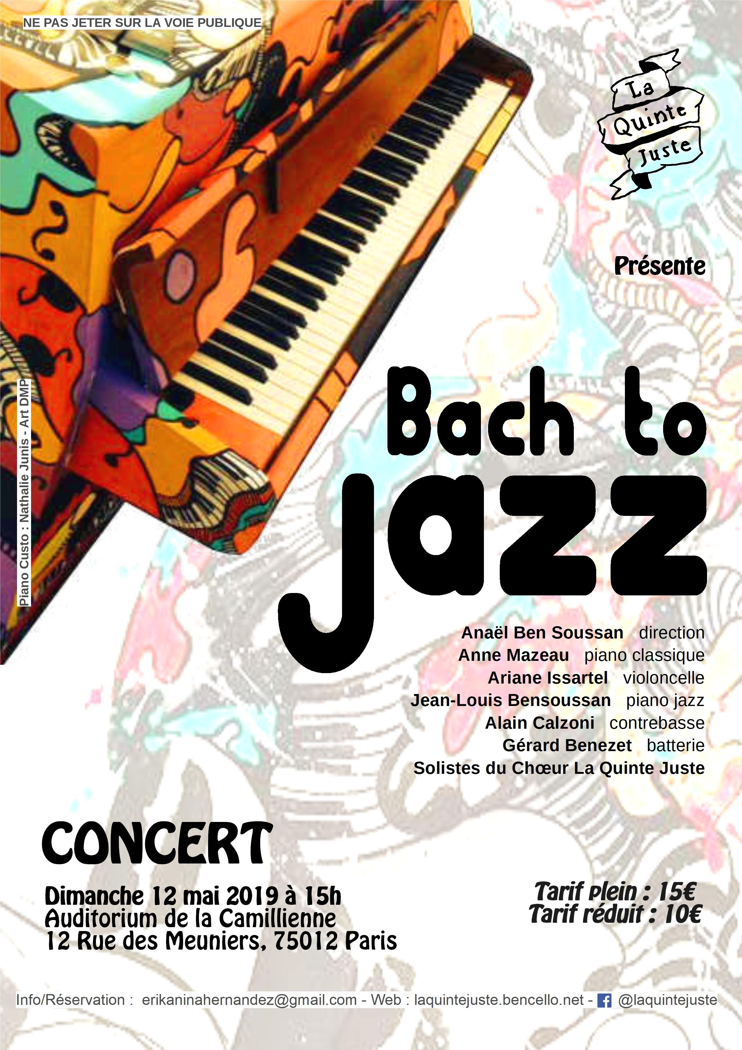 Bach to jazz par la Quinte Juste