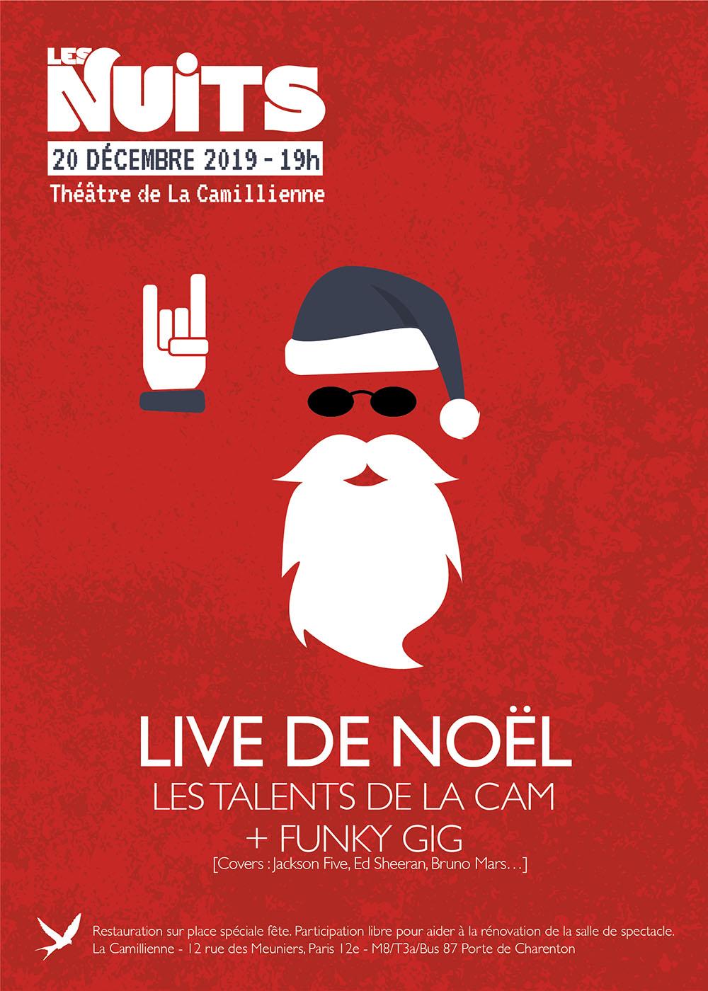 Nuit spéciale : live de Noël
