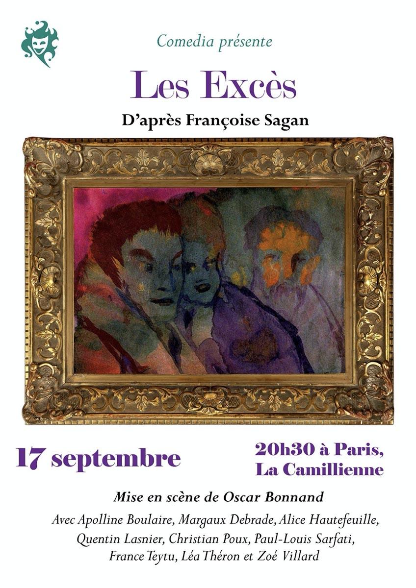 Les Excès d'après Françoise Sagan au théâtre de La Camillienne